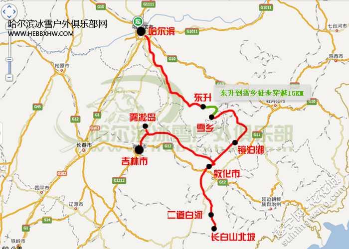 中国雪乡手绘地图