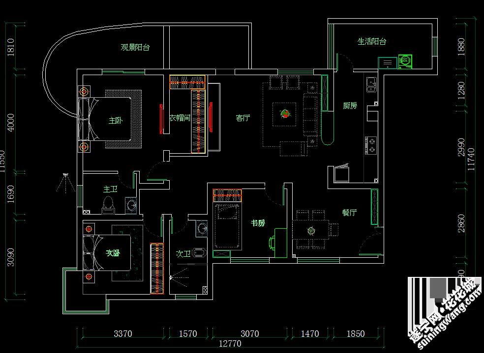 户型 户型图 平面图 984_719