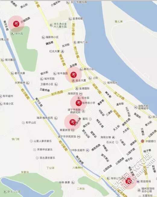 2015年小学交通v小学遂宁附近考点将进行城区道路兴隆场图片